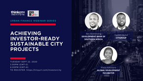 Urban Finance Webinar 3- Achieving Investor-ready Sustainable City Projects