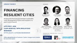 Urban Finance Webinar 1- Financing Resilient Cities