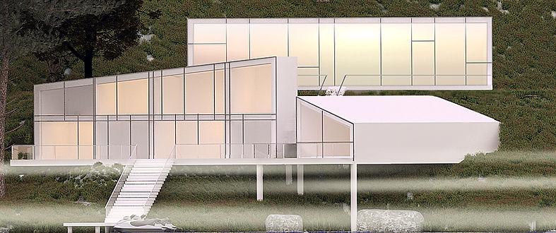 суперсовременный загородный дом