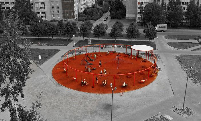 Детская площадка в Гатчине