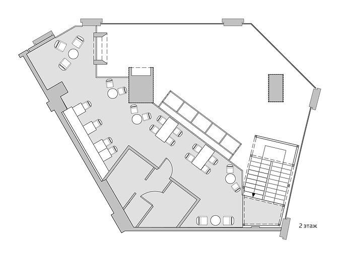 планировка кофейни, дизайн интерьера кофейни, дизайн трк галерея, архитектурная мастерская, a-z architects, coffeeshop company