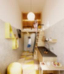 современный интерьер хостела в стиле лофт