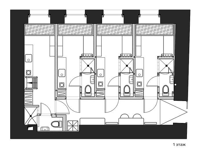 планировка мини-отеля