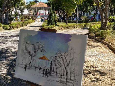 Artistas de Sorocaba e região expõem obras na Praça Pio XII