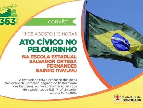 Ato Cívico no Pelourinho acontece nesta sexta-feira