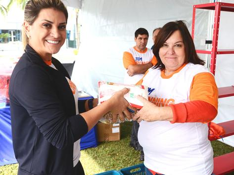 Fundo Social recebe alimentos arrecadados na Campanha Bem Legal