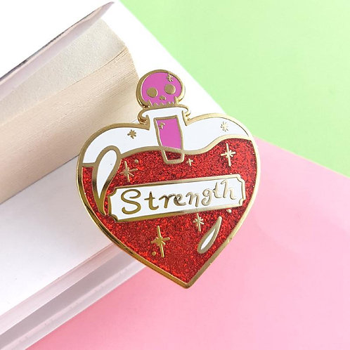 Solution of Strength Lapel Pin
