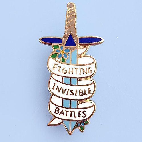 Fighting Invisible Battles Lapel Pin
