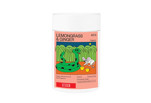 Organic Lemongrass & Ginger Tea 40g