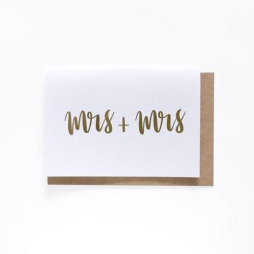 Mrs + Mrs Card
