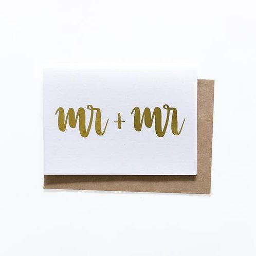 Mr + Mr Card