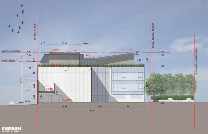 Bureaux et laboratoir TOTALINUX - Façade ouest