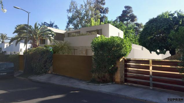 Villa CASA - Perspective depuis la rue