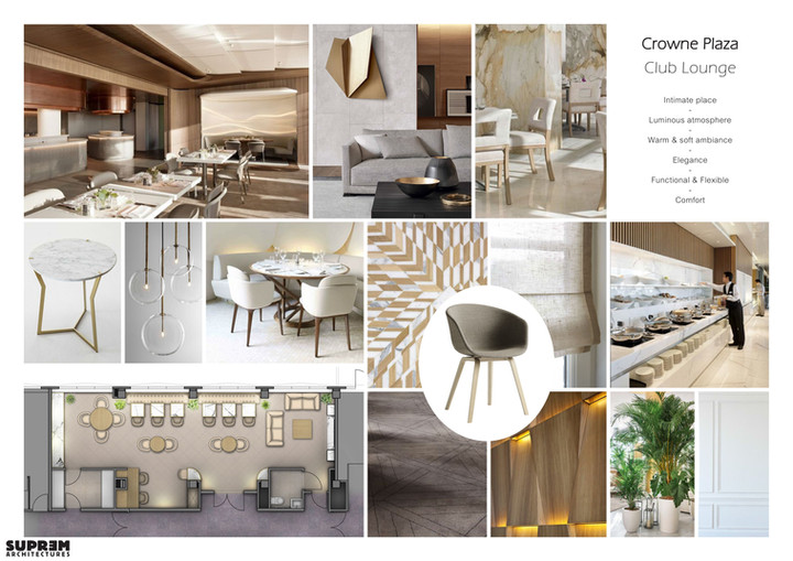 "Bar et Restaurant ""Crowne Plaza Hotels & Resorts****"" - Planche tendance"