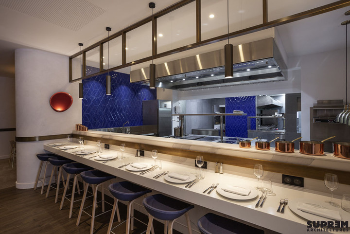 """Restaurant """"L'Alchimiste"""" Hôtel Golden Tulip**** - Showkitchen"""