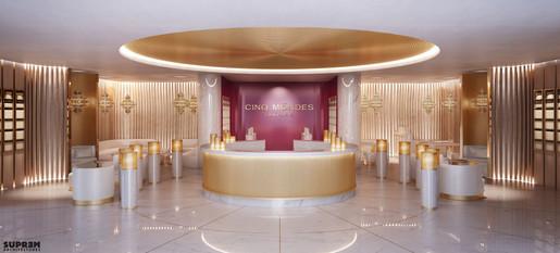 """Spa """"Cinq Mondes"""" DUBAÏ - 3D Réception & Boutique"""