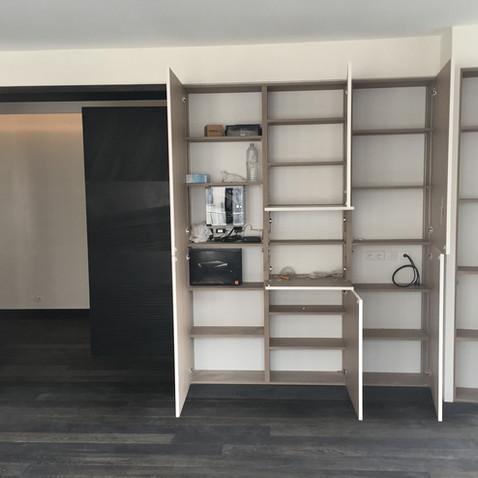 Appartement PS - Placards séjour ouverts