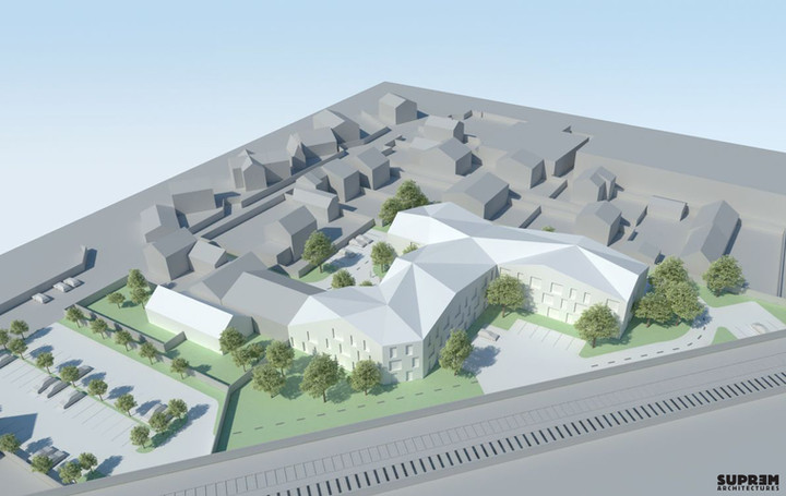 Résidence hôtelière GROSLAY - 3D Vue aérienne