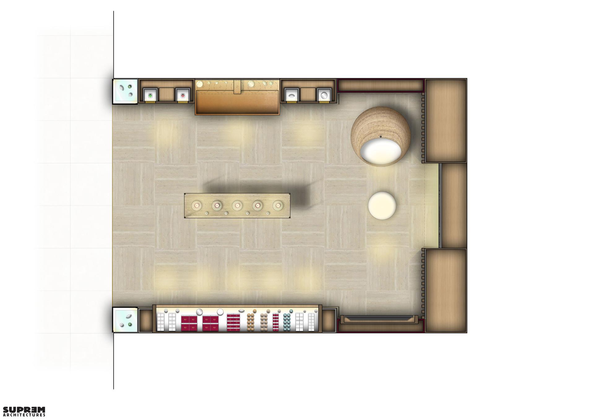 """Concept corner """"Cinq Mondes"""" - Plan"""