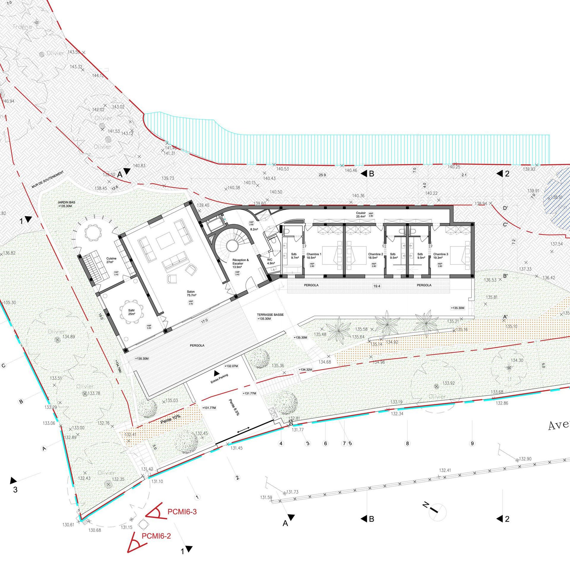 Villa VCD - Plan rez-de-jardin
