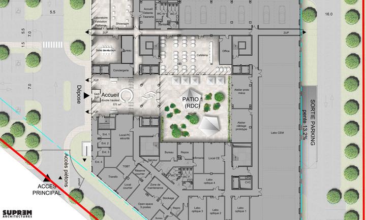 Bureaux & laboratoire CRETEIL - Plan accueil