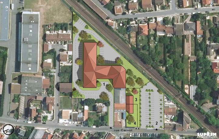Résidence hôtelière GROSLAY - Plan masse