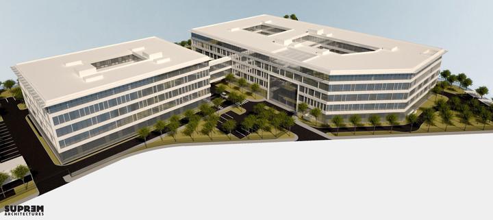 Bureaux & laboratoire CRETEIL - Vue aérienne phase 2