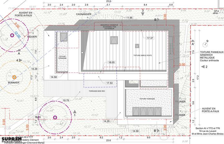 Maison RUBAN - Plan de toiture