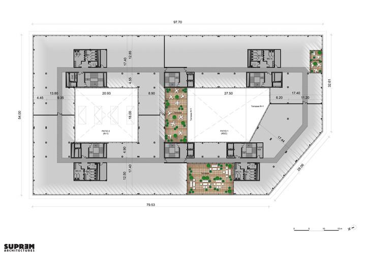 Bureaux & laboratoire CRETEIL - Plan dernier étage