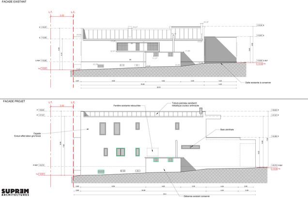 Maison RUBAN - Façades existant et projet