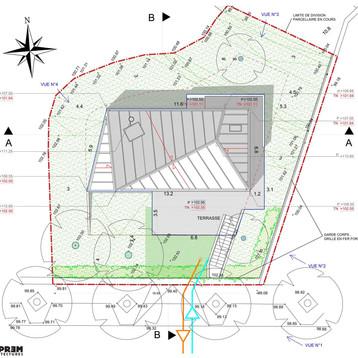 Maison CFS - Plan de toiture