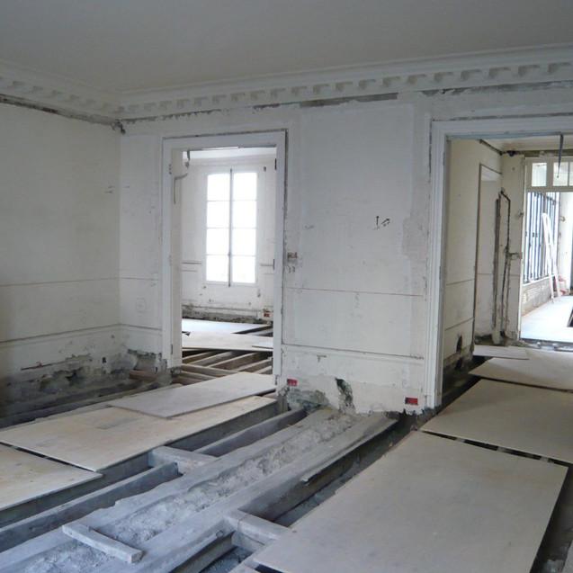 Appartement BB - Salon en travaux