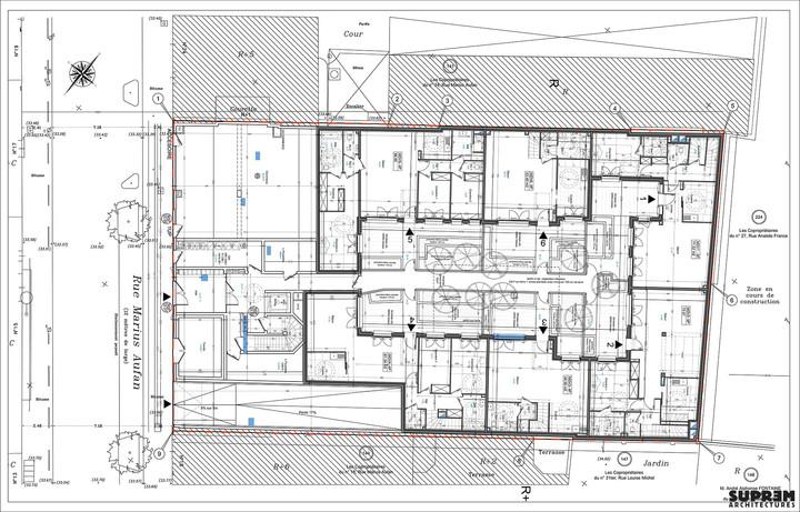 Logements MARIUS AUFAN - Plan rez-de-chaussée