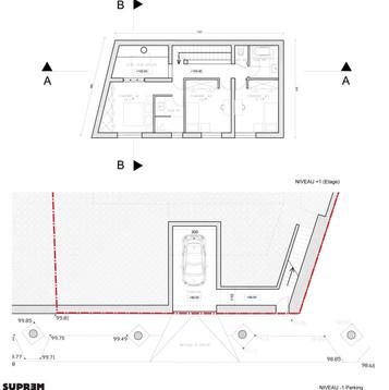 Maison CFS - Plans sous-sol et étage