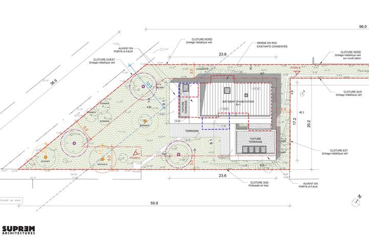 Maison RUBAN - Plan masse