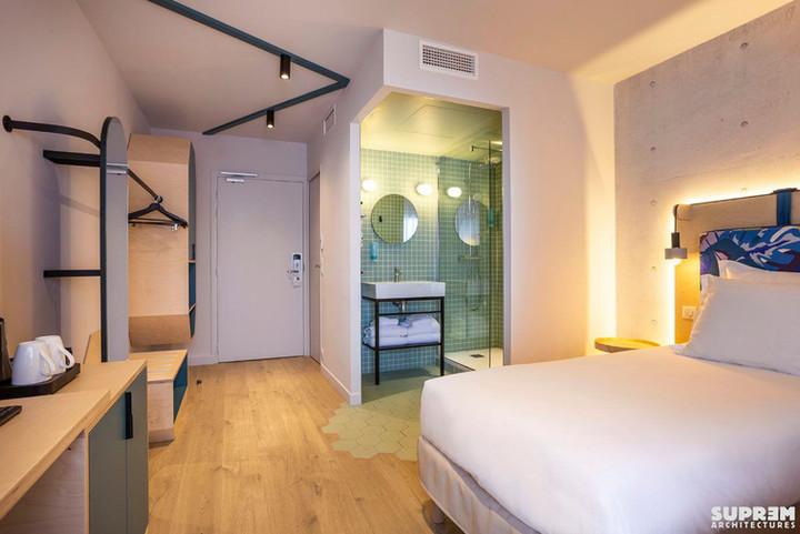"Hôtel ""Urban Hôtel""*** - Chambre verte"
