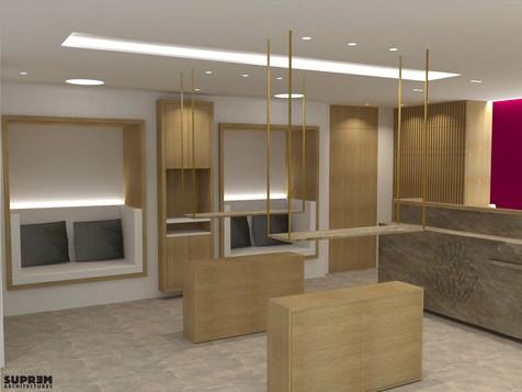 """Spa """"Cinq Mondes"""" MONACO - 3D Réception & Boutique"""