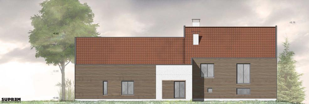 Maison NAB - Elévation façade