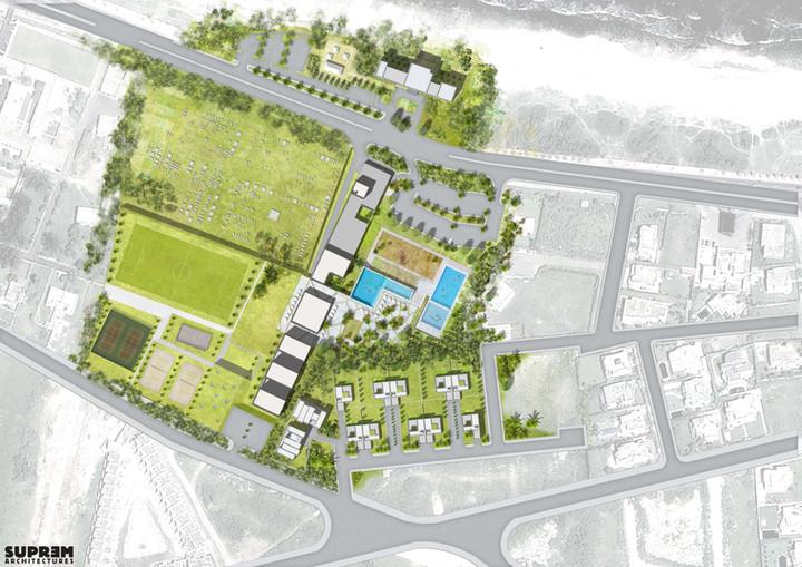 Centre de Loisirs EL JADIDA - Plan masse