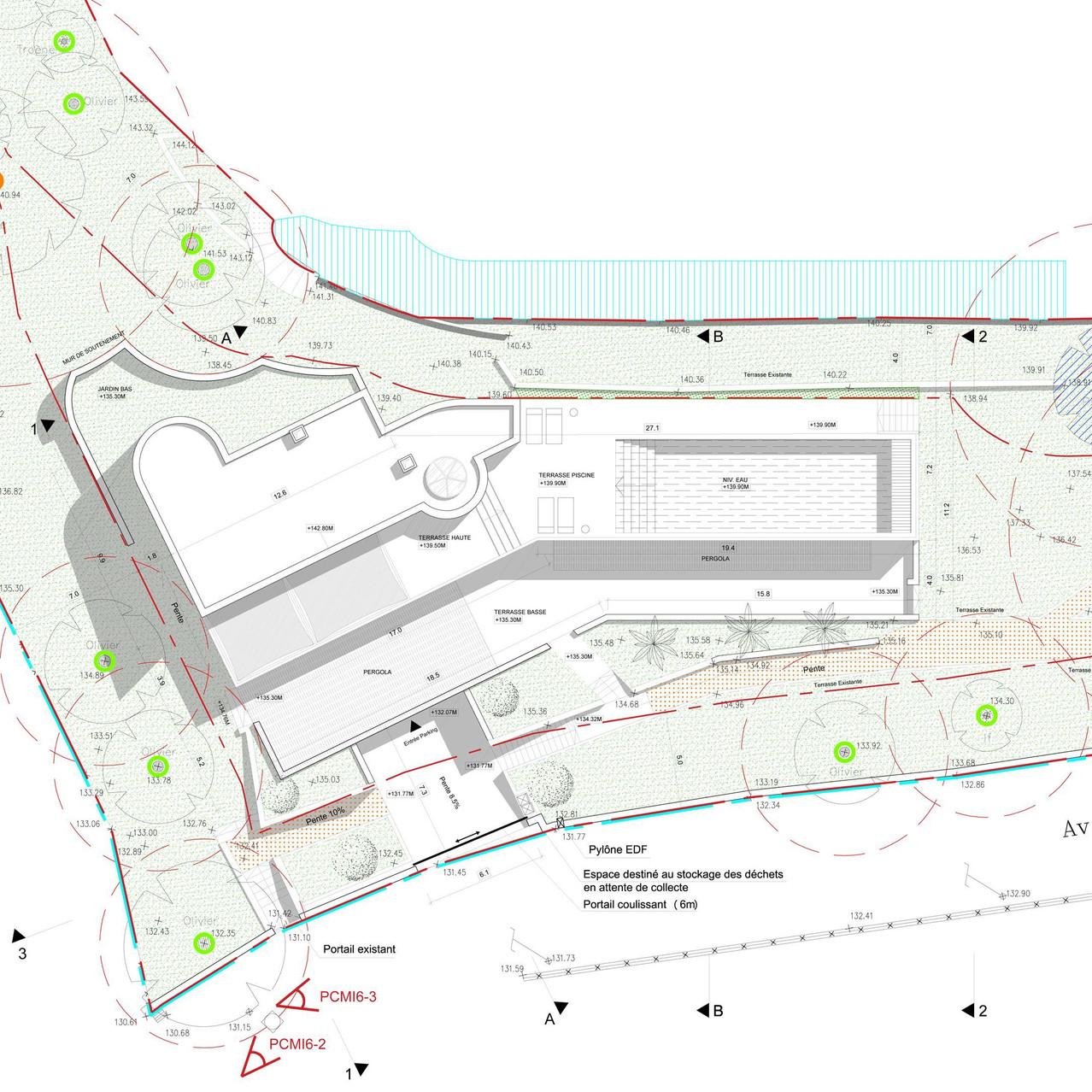 Villa VCD - Plan de toiture