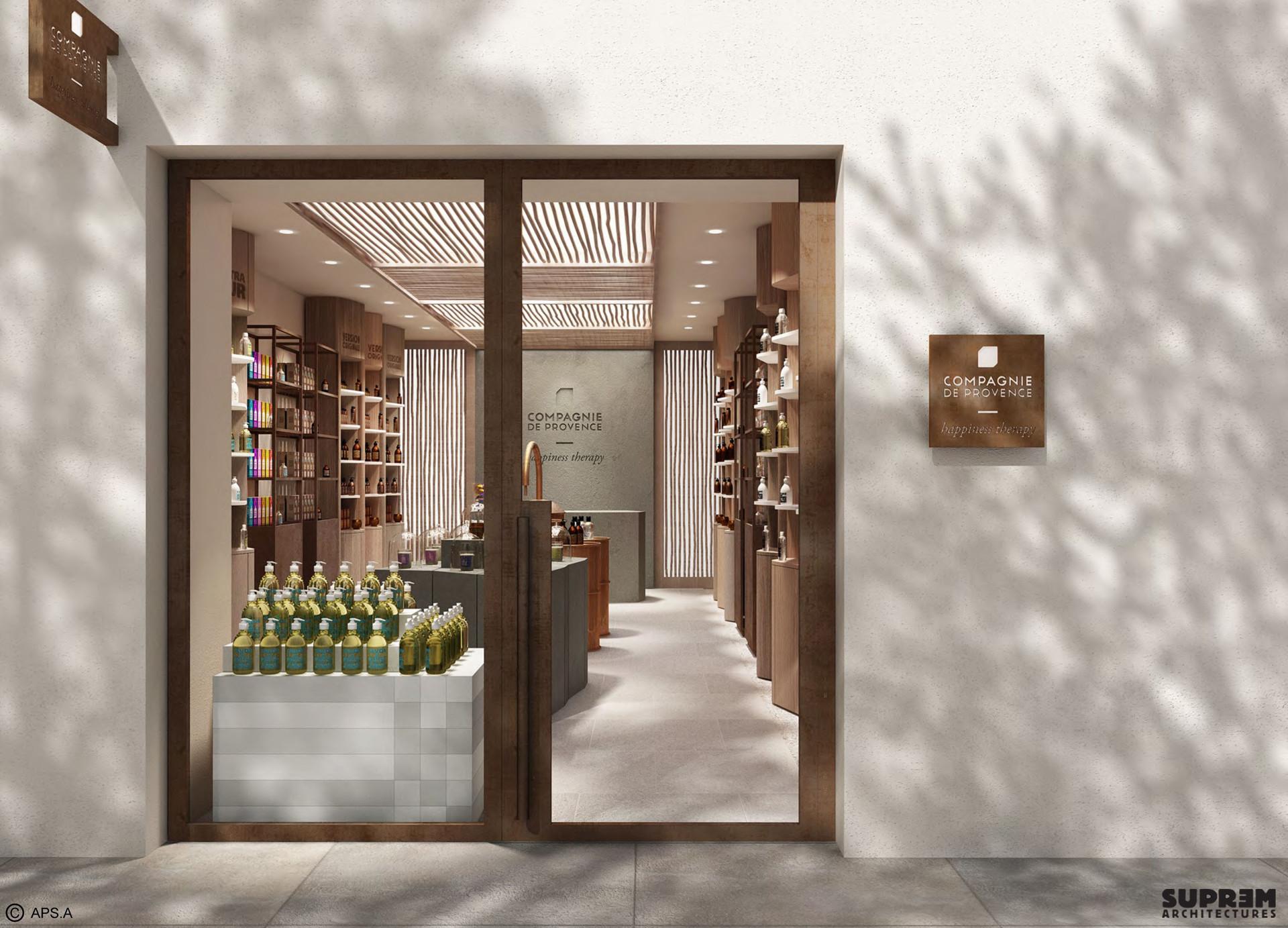 """Boutique """"Compagnie de Provence"""" MILAN - Vue extérieure 3D"""