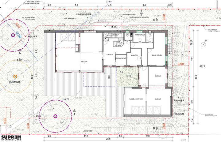 Maison RUBAN - Plan rez-de-chausséee