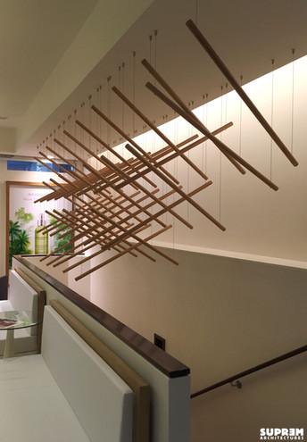 """Spa """"Cinq Mondes"""" PARIS - Sculpture escalier"""