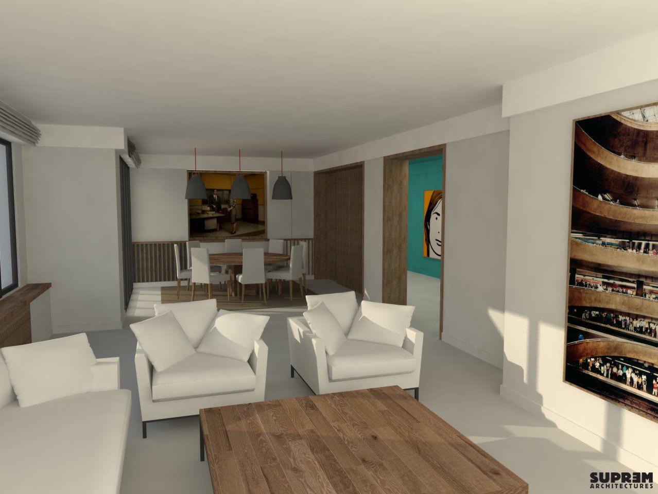 Appartement PS - 3D Séjour