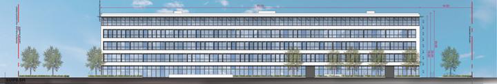 Bureaux & laboratoire CRETEIL - Façade est