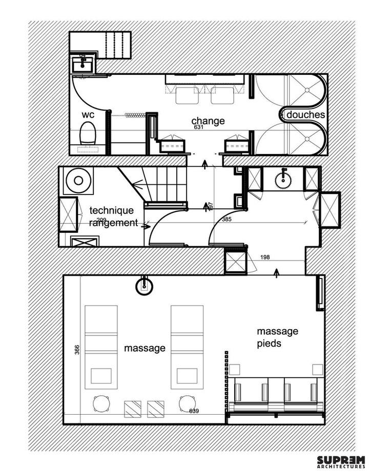 """Spa """"Cinq Mondes"""" PARIS - Plan Suite 2"""
