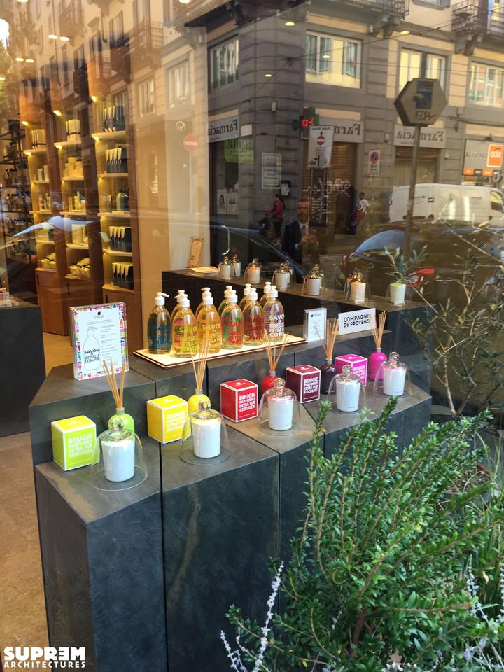 "Boutique ""Compagnie de Provence"" MILAN - Vitrine"