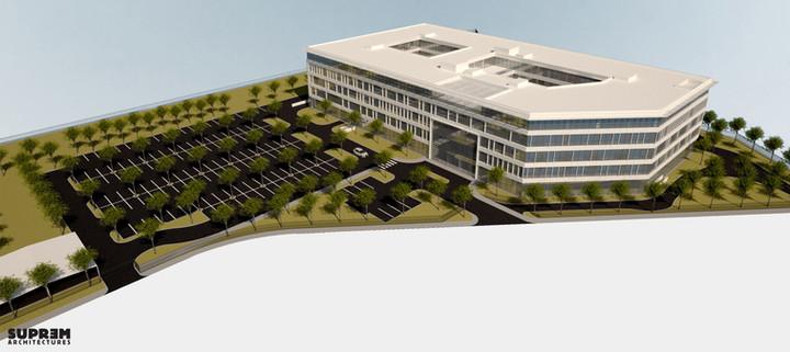 Bureaux & laboratoire CRETEIL - Vue aérienne phase 1
