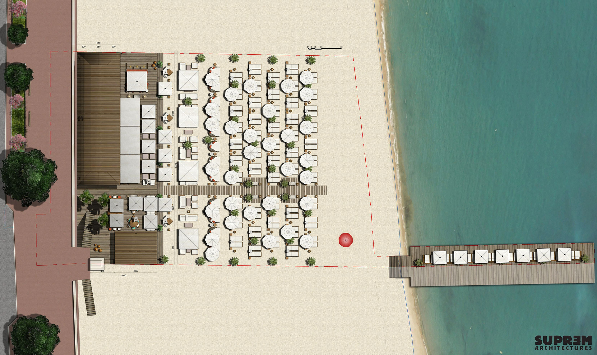 "Bar & Restaurant ""Nassau Beach Club"" - Plan d'ensemble"