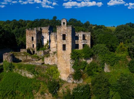 Survol du chateau en drone